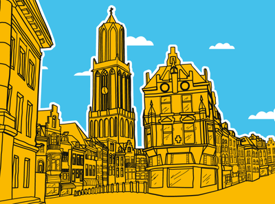 Mural of the city of Utrecht