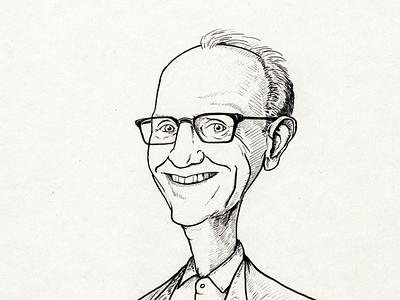 Portrait of Jan illustration pen handdrawing cartoon illustration cartoon caricature drawing portrait