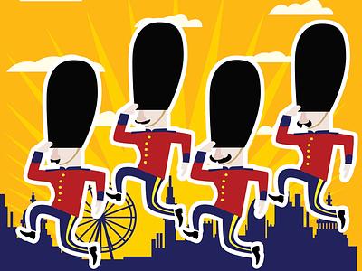 London soldiers english uk utrecht funny cartoon flat illustrator london illustration