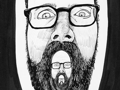 Fractal self-portrait inktober endless drawing fractal portrait self-portrait