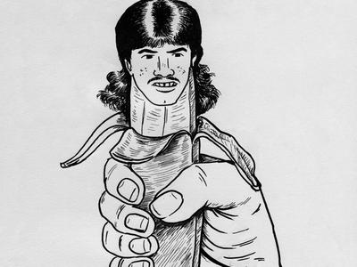 Ripe handdrawn illustration utrecht donorbrain funny adolescent puberty fruit ripe inktober drawing