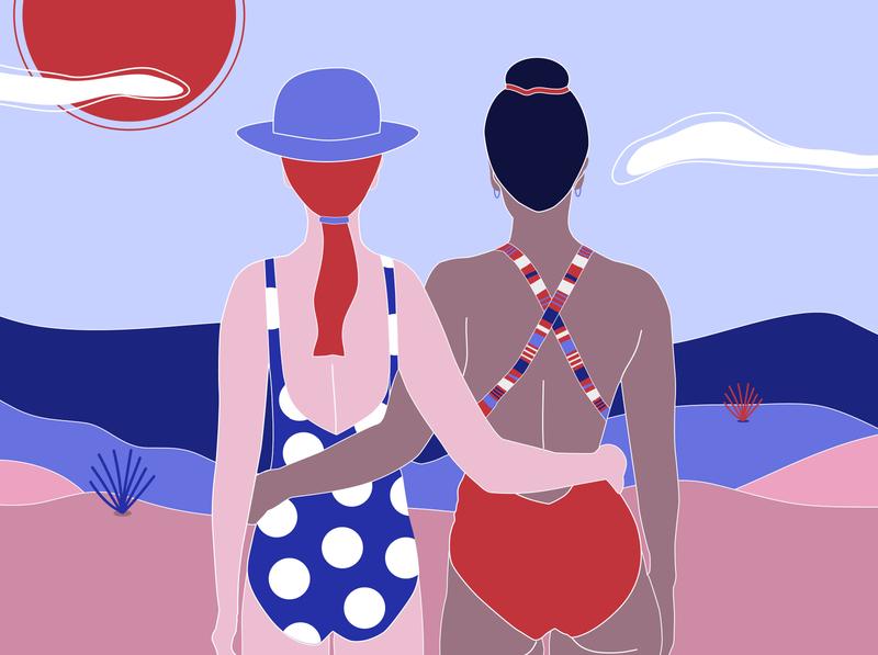 Seaside sisters