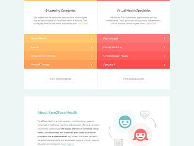 Face2Face Health health landing landingpage web comp