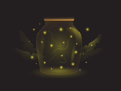 Firefly in glass jar