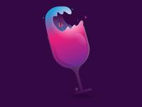 Surfing the wine.