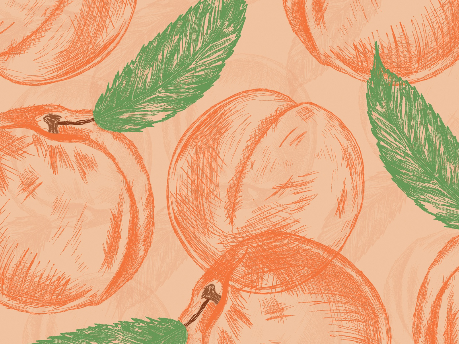 peaches wallpaper pattern by jen borror on dribbble peaches wallpaper pattern by jen borror