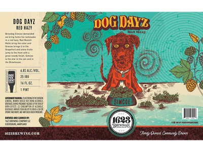 Beer can label design retro can craftbeer ipa hazy ipa craft beer packaging packaging design label design beer can brewery beer label dog