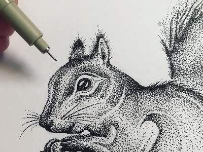 Stippling - that's a lot of dots!