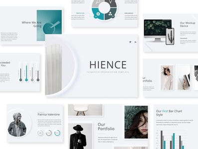 Hience | Minimal Presentation Template design typography creative powerpoint template clean template presentation layout design