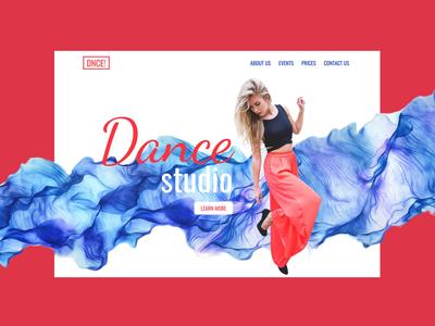 Dancing Studio Landing Page