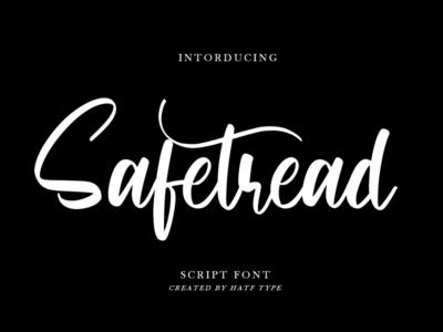 Safetread - Script Font lettering handwritten font handwriting fonts font family font design font awesome font design branding