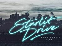 Starlit Drive Font