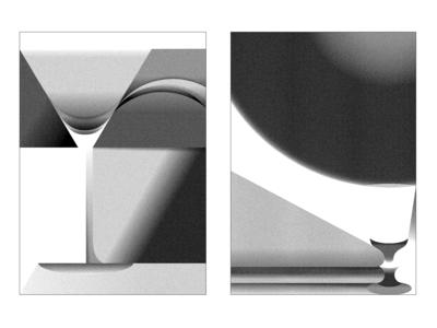 Fluids: Martini glass & Absynth Glass
