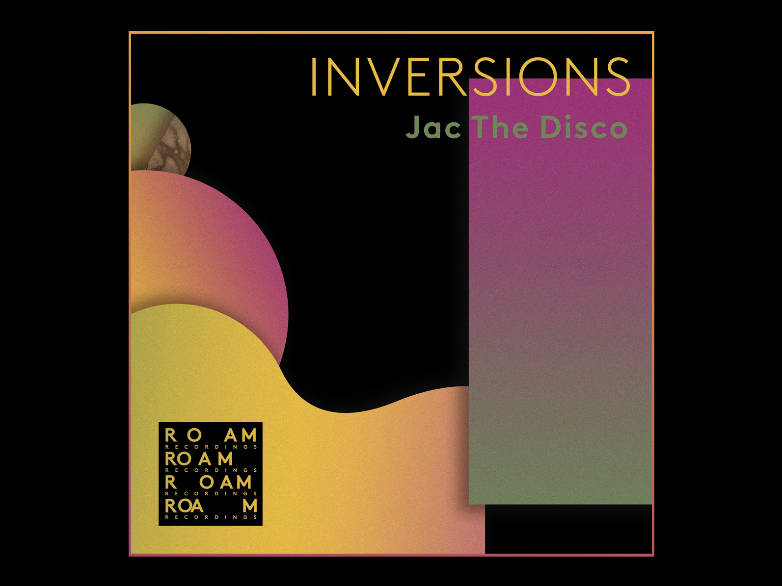 Inversions - Jack The Disco danielroozendaal artist roam roamrecordings gradients shapes artwork cover design cover art art abstract techno house disco ep cover music jackthedisco inversions
