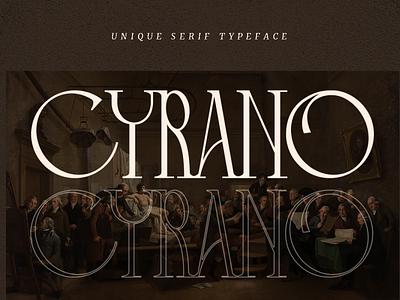 Cyrano - Unique Serif Typeface style european europe minimalist branding wedding logo magazine headline header web modern classy feminime luxury elegant sans serif serif fonts font