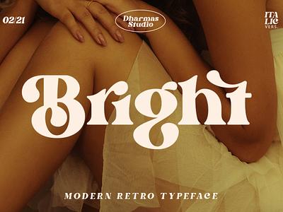 Bright - Modern Retro Typeface fashion craft 80s font 70s font 60s font classic invitation wedding logo branding classy feminime modern luxury bold vintage retro sans serif serif font