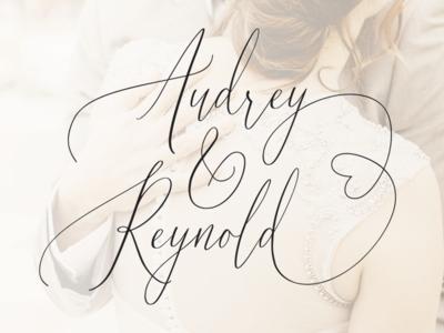Audrey & Reynold Wedding Calligraphy Script