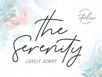 The Serenity - Lovely Script handwriting font stylish web blog fashion instagram branding logo signatures handdrawn hand-lettered handwriting signature classy modern elegant luxury fonts font script