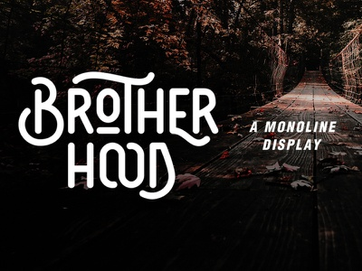 Brotherhood - Monoline Display quote branding modern letterhead signage old serif sans monoline badge logo badge retro contemporary classic vintage rough handmade display fonts font