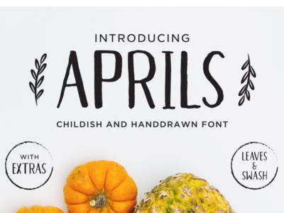 Aprils Sans-  Handdrawn Font