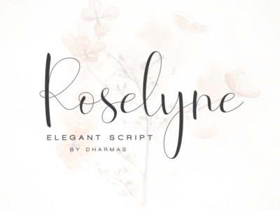 Roselyne - Caligraphy Script