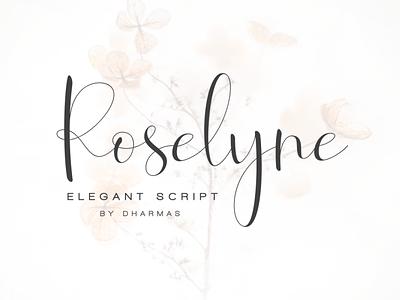 Roselyne - Caligraphy Script wedding fashion blog romantic handwritten handwriting hand-lettered calligraphy feminine classy modern luxury elegant font script