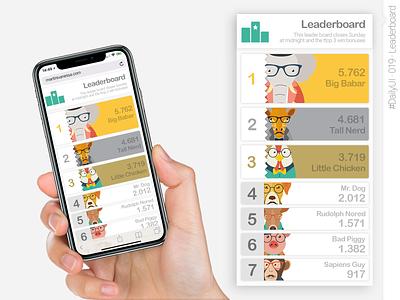 #DailyUI #019 #Leaderboard app designer app ui design daily ui dailyui019 dailyuichallenge app design app ux graphic design ui interface design daily 100 challenge dailyui
