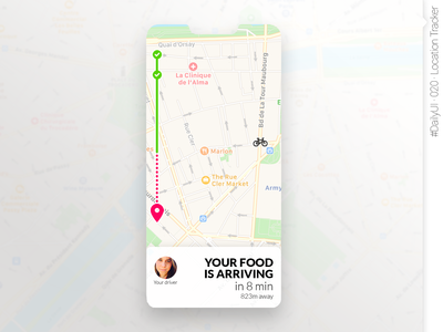 #DailyUI #020 #LocationTracker