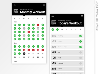 #DailyUI #041 #WorkoutTracker