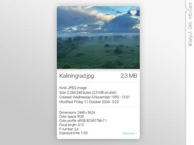 #DailyUI #045 #InfoCard