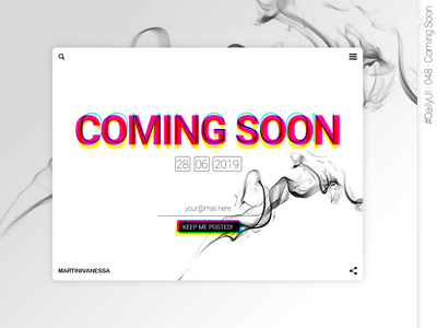 #DailyUI #048 #ComingSoon