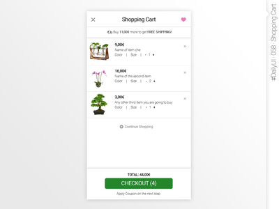 #DailyUI #058 #ShoppingCart