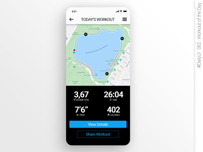 #DailyUI #062 #WorkoutOfTheDay