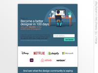 #DailyUI #100 #Redesign DailyUI #LandingPage