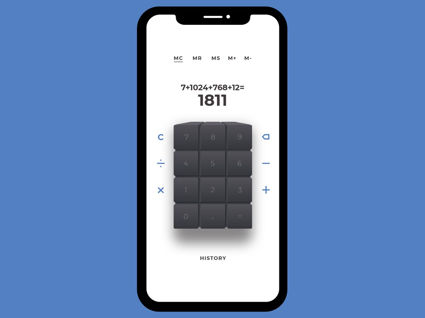 Calculator UI ux calculator minimal dailyui vector ui app