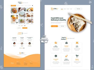 FOODBAR - Restaurant Landing Page webpage design ped template web ui colors restaurant we design minimal restaurant landing page typography 2020 trend dribble best clean shot best clean design
