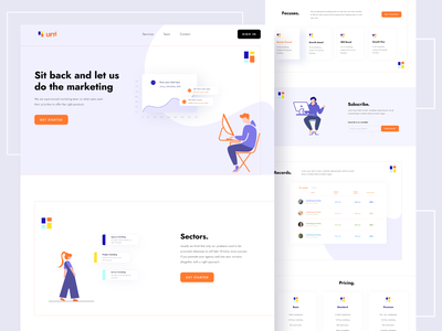Lifti -  Marketing Agency Landing Page dribbble best shot clean simple graphicdesign webdesign 2020 trend minimal user interface analysis optimization marketing agency marketing landing page