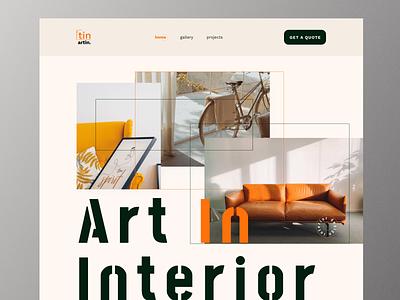 Artin -  interior design landing page design website simple graphicdesign webdesign user interface landing page interior architecture interiordesign interior