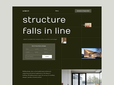 Solarch - Architecture Homepage Design clean simple interior architecture minimal graphicdesign ui user interface landingpage landing website design web design web website