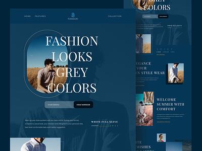 FIVOCCI - Fashion Website cloth store clean ui simple design user interface homepage landingpage fashion design clothing brand cloth fashion webdesign website web