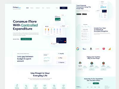 Finopt   Financial Optimization Platform uiux app app ui financial ui minimal graphicdesign landing page user interface website webdesign optimization finance fintech app fintech