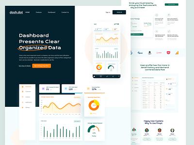Dashdot - Data Sorting Platform webdesig ui uiux dashboad data science database data fintech finance
