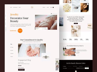 Ornate - Jewelry Shop graphicdesign web designer webdesign elegant branding ecommerce ornaments shop jewellery jewelery jewelry