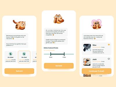 Chatbot - SPA Mobile App application illustration ui ux animals design ui design ux desginer ui designer ux ui mobile app app mobile chatbot