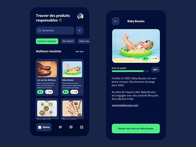 Bio Product Shop App shop app ui design mobile ui ux shopping review app mobile app dark theme dark mode list shopping app shop ecomerce app graphic design ui