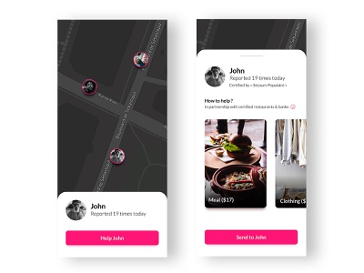 Homeless App homeless gps cards application ux ui uidesign app ux application ui application minimalist user interface ux design android uiux ui mobile app mobile ui ux designer ui ux ui design design