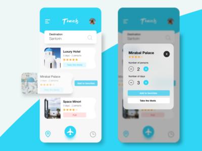 Mobile Travels App - UI/UX Design