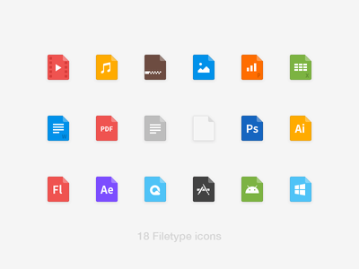 18 filetype icons colorful android picture document html format ui icon filetype