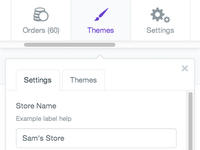 Store toolbar small
