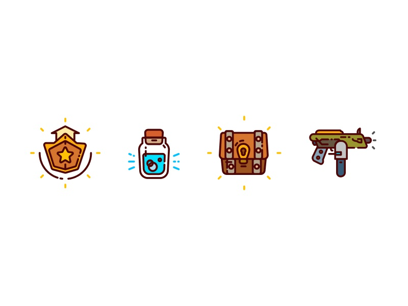 Icons In Figma X Fortnite By Hector Zems Dribbble Dribbble